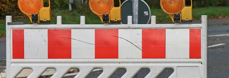 barrières utilisées dans les chantiers